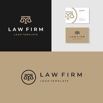 Plantilla de diseño de logotipo de bufete de abogados