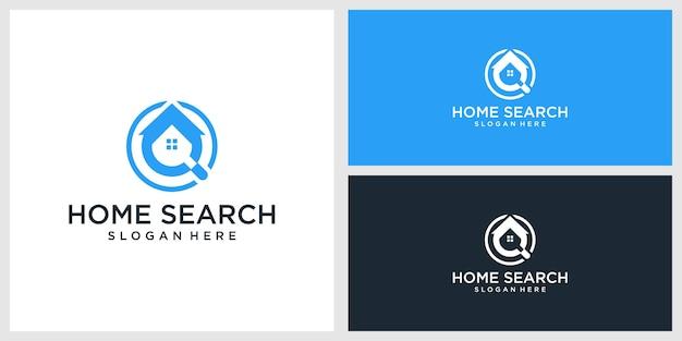 Plantilla de diseño de logotipo de búsqueda de inicio
