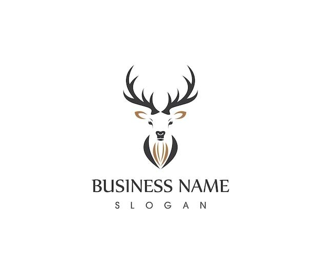 Plantilla de diseño de logotipo de cabeza de ciervo