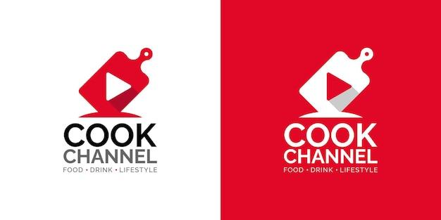 Plantilla de diseño de logotipo de canal de cocina