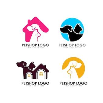 Plantilla de diseño de logotipo de casa de mascotas