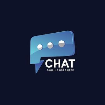 Plantilla de diseño de logotipo de chat