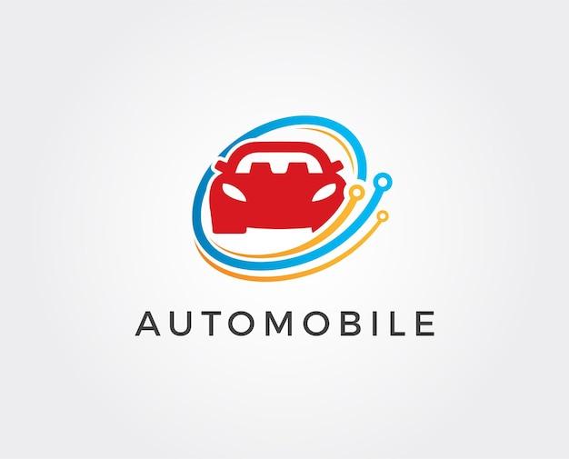Plantilla de diseño de logotipo de coche mínimo