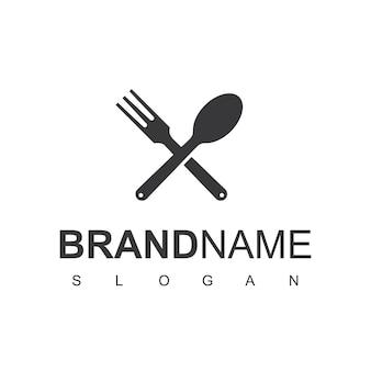 Plantilla de diseño de logotipo de cocina