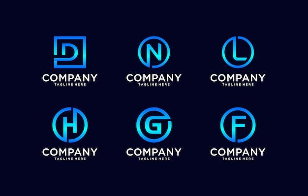 Plantilla de diseño de logotipo creativo monograma.