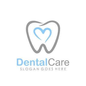 Plantilla de diseño de logotipo de cuidado dental y odontología