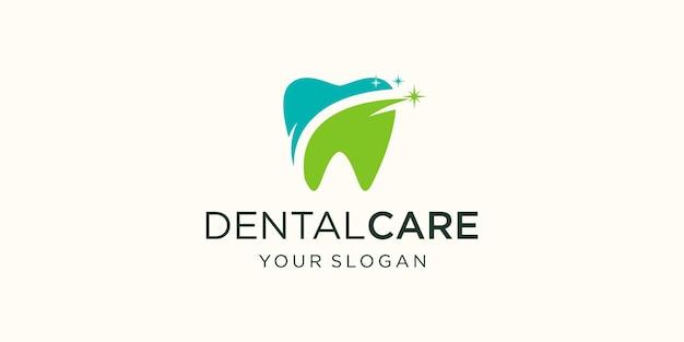 Plantilla de diseño de logotipo dental. icono de diente abstracto moderno.