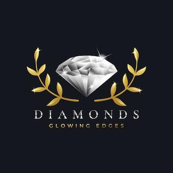 Plantilla de diseño de logotipo de diamantes de lujo