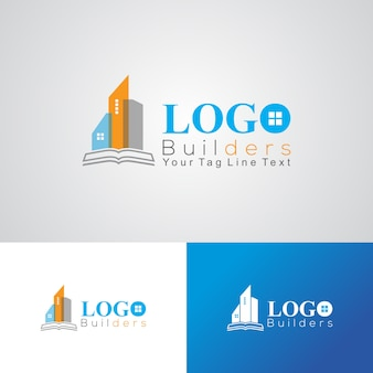Plantilla de diseño de logotipo de empresa constructora y construcción
