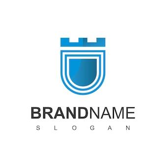 Plantilla de diseño de logotipo de escudo, símbolo seguro