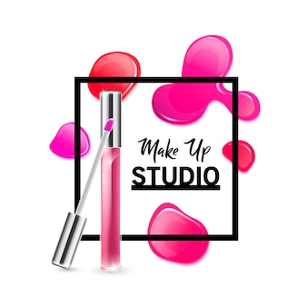 Plantilla de diseño de logotipo de estudio de maquillaje.