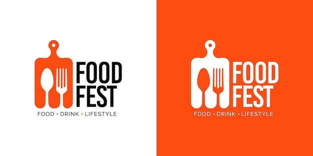 Plantilla de diseño de logotipo de festival de comida