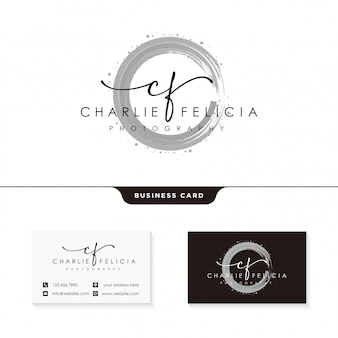Plantilla de diseño de logotipo de la firma