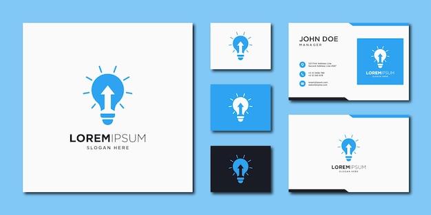 Plantilla de diseño de logotipo de flecha de iluminación