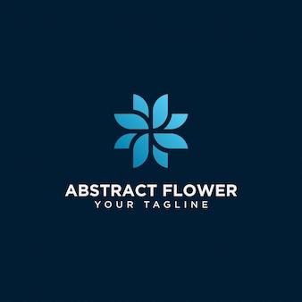 Plantilla de diseño de logotipo de flor abstracta