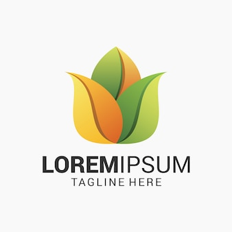 Plantilla de diseño de logotipo de flor de loto