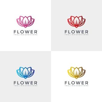 Plantilla de diseño de logotipo de flor de lujo.