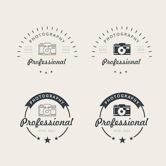Plantilla de diseño de logotipo de fotografía profesional