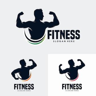 Plantilla de diseño de logotipo de gimnasio fitness
