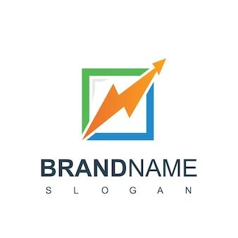 Plantilla de diseño de logotipo de gráfico empresarial