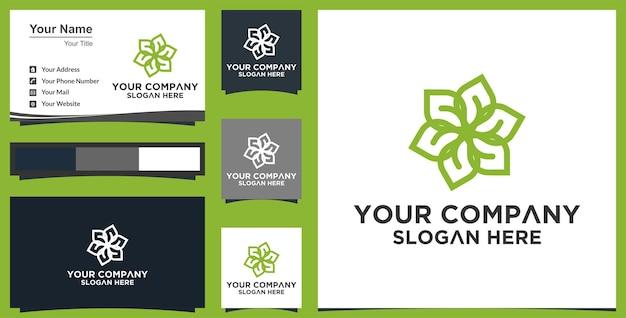 Plantilla de diseño de logotipo de hoja abstracta de vector