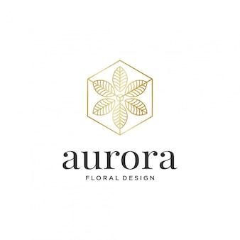 Plantilla de diseño de logotipo de hoja abstracta.