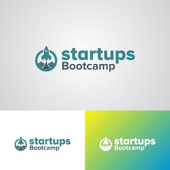 Plantilla de diseño de logotipo de inicio bootcamp