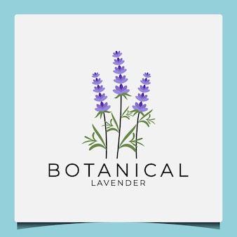 Plantilla de diseño de logotipo de lavanda botánica de belleza de idea creativa