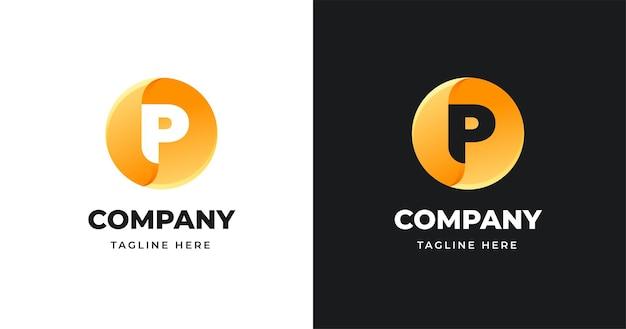 Plantilla de diseño de logotipo de letra con estilo de forma de círculo