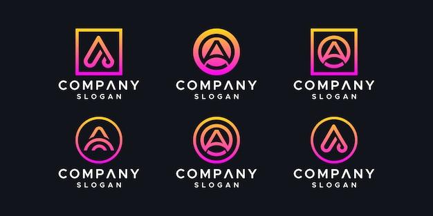 Plantilla de diseño de logotipo letra a