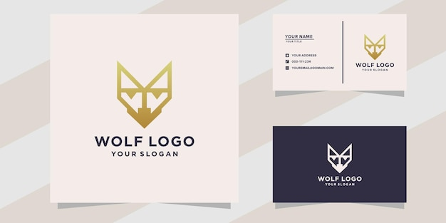 Plantilla de diseño de logotipo de lobo