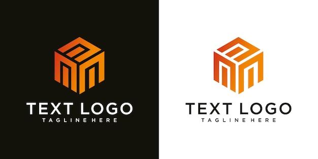 Plantilla de diseño de logotipo de lujo de signo de letra inicial moderna abstracta m