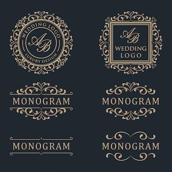 Plantilla de diseño de logotipo de lujo