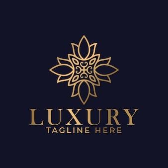 Plantilla de diseño de logotipo de mandala de lujo para spa y masajes