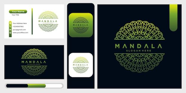 Plantilla de diseño de logotipo mandala, símbolo abstracto en estilo mandala, emblema para productos de lujo, hoteles, boutiques, joyería, cosmética oriental
