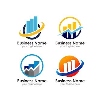 Plantilla de diseño de logotipo de marketing empresarial