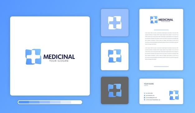 Plantilla de diseño de logotipo medicinal