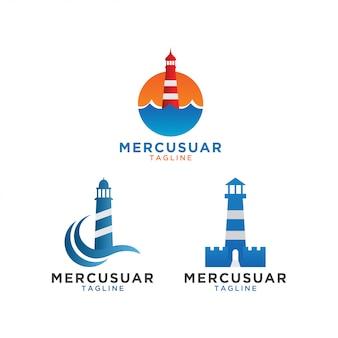 Plantilla de diseño de logotipo mercusuar