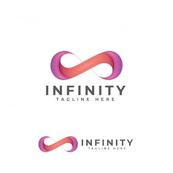 Plantilla de diseño de logotipo moderno infinito