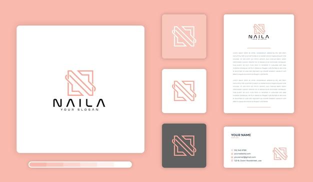 Plantilla de diseño de logotipo de naila