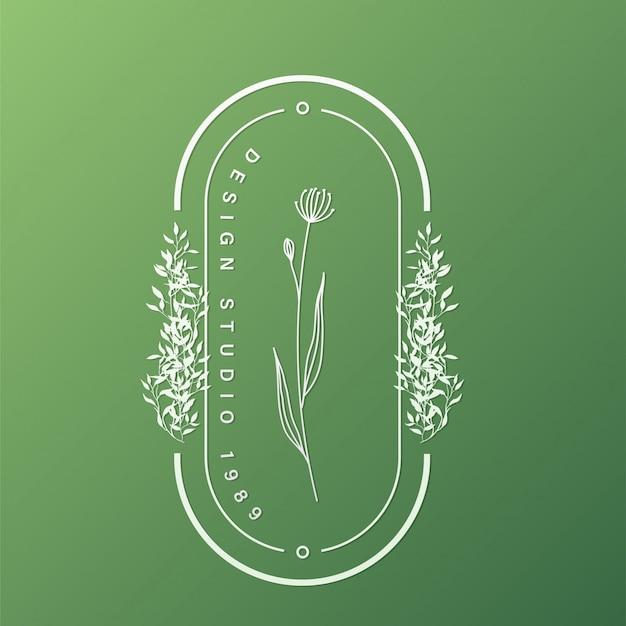 Plantilla de diseño de logotipo natural para branding, identidad corporativa.