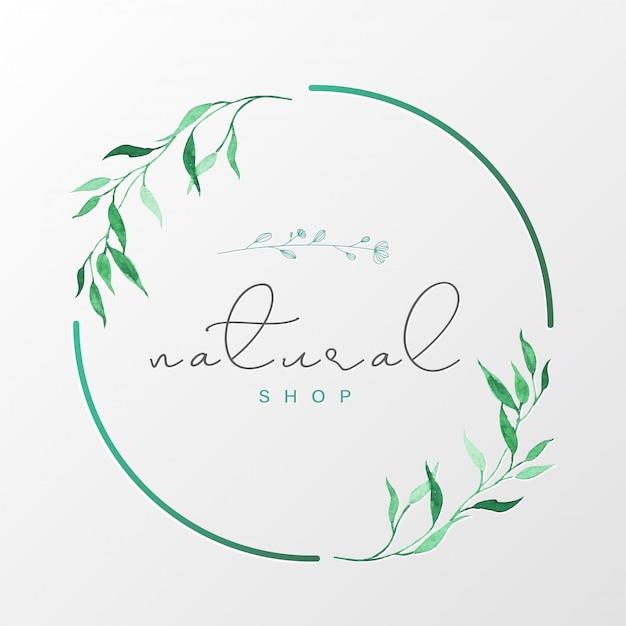 Plantilla de diseño de logotipo natural para marca, identidad corporativa, empaque y tarjeta de visita.