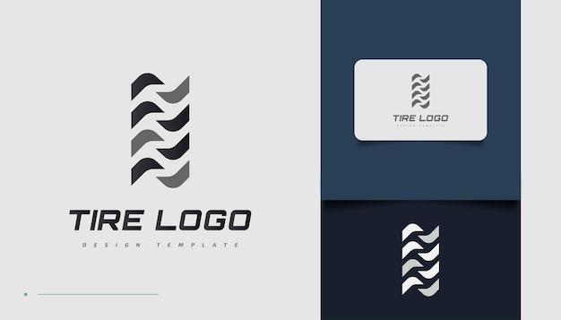 Plantilla de diseño de logotipo de neumático abstracto para identidad empresarial deportiva o automotriz. marca comercial de neumáticos