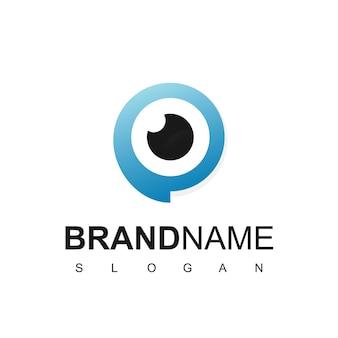 Plantilla de diseño de logotipo de ojo