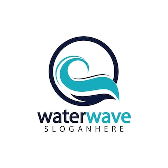 Plantilla de diseño de logotipo de onda de agua