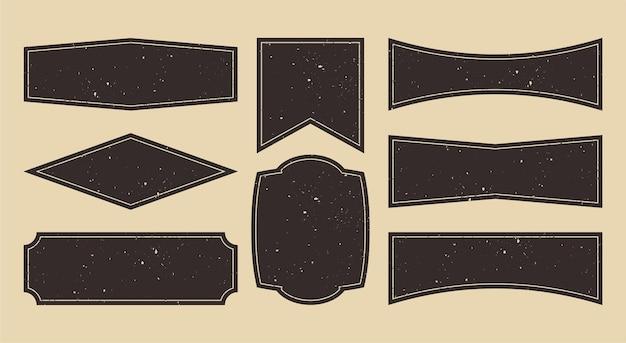 Plantilla de diseño de logotipo de panel vintage de grunge banner rústico