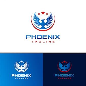 Plantilla de diseño de logotipo de phoenix