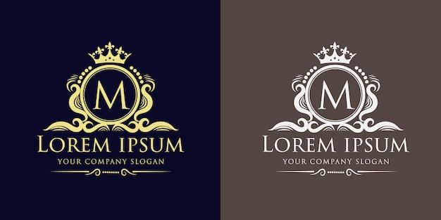 Plantilla de diseño de logotipo real y de lujo