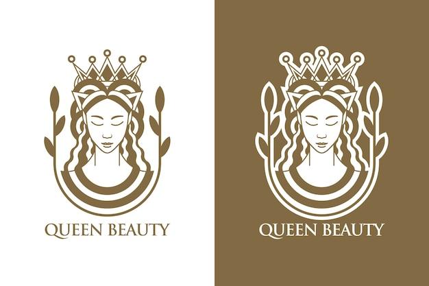 Plantilla de diseño de logotipo de reina de belleza