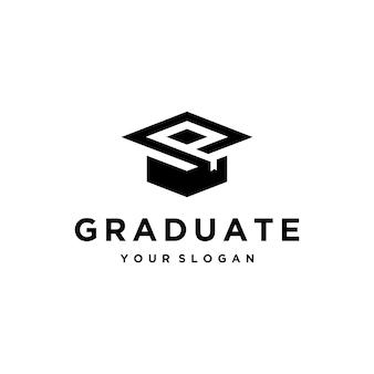 Plantilla de diseño de logotipo de sombrero de graduado